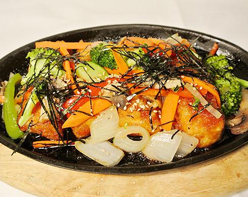 ginger tofu steak $ 10 95 deep fried tofu glazed with a mushroom ...